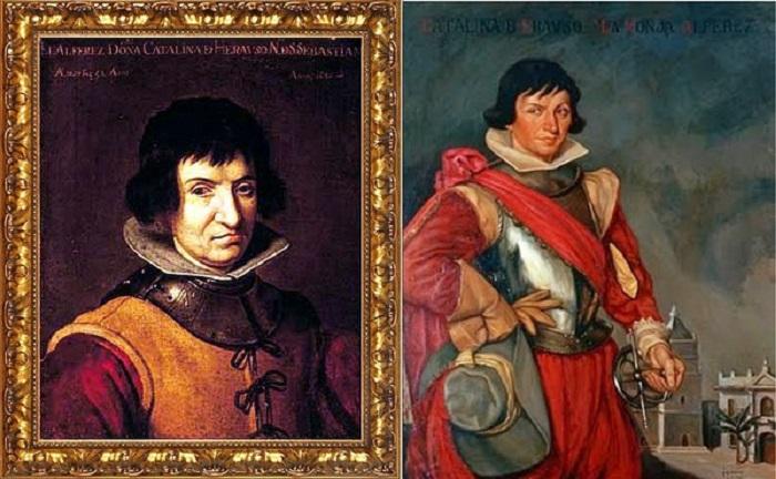 Прижизненный и посмертный портреты де Эрасо.